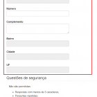 Formulário de cadastro de usuário em Autosserviço
