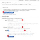 Formulário para solicitação de certificação de usuário no sistema Autosserviço